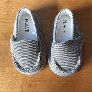 Baby boys tan slip on shoes